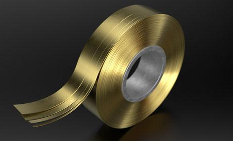Coiled brass strip